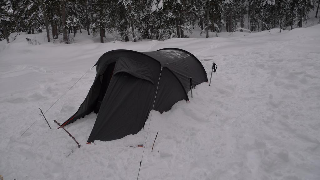 camping dans la neige