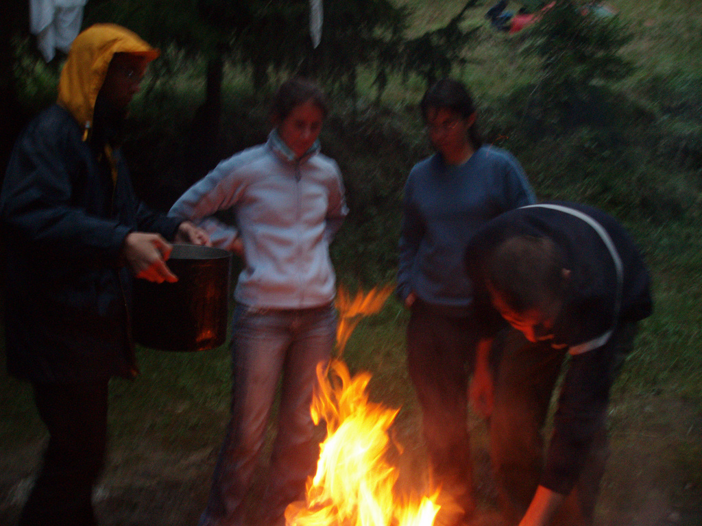le feu est allumé