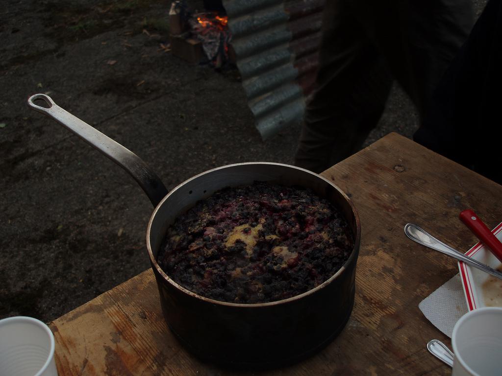 un espece de clafouti aux myrtilles