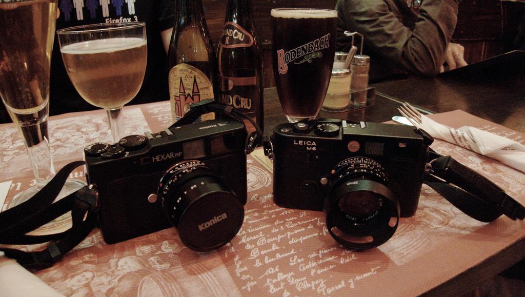 Konica Hexar RF et Leica M6