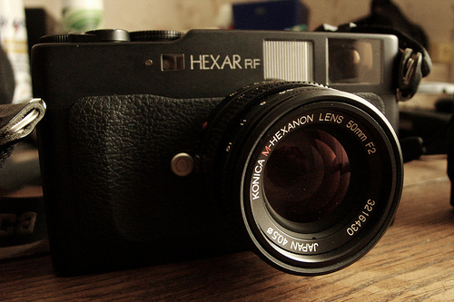 konica hexar rf and m-hexanon 50mm/f2