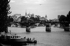 Walking along the Seine in Paris