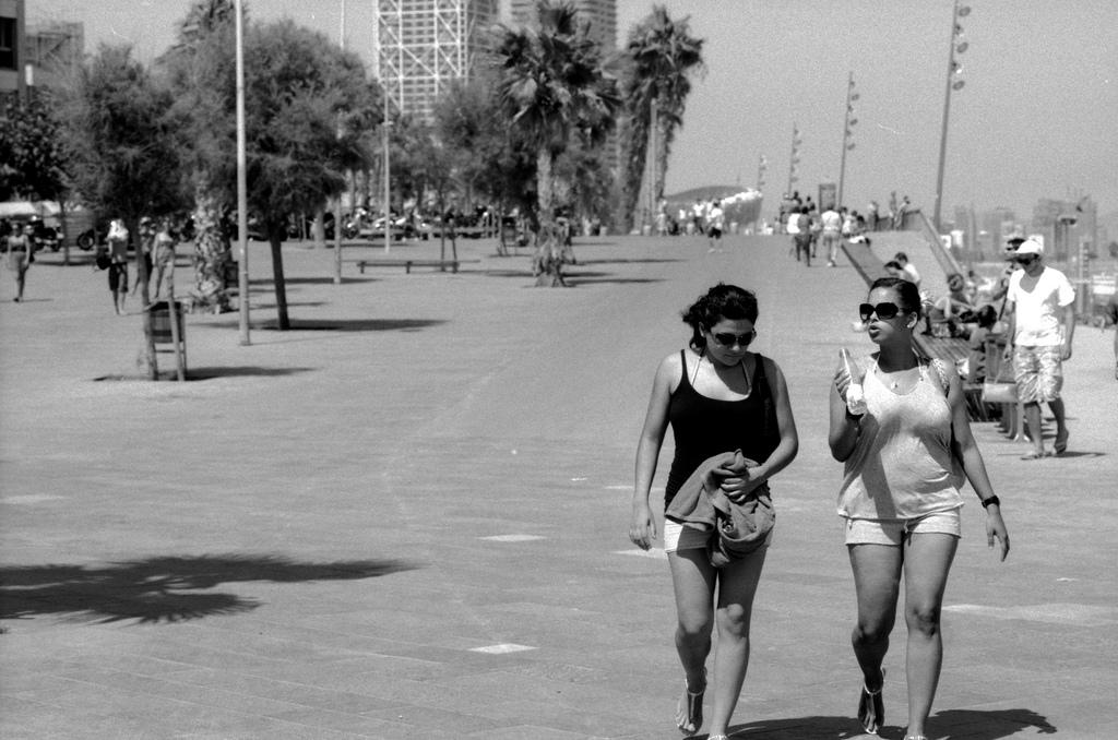 Two girls in Barcelona