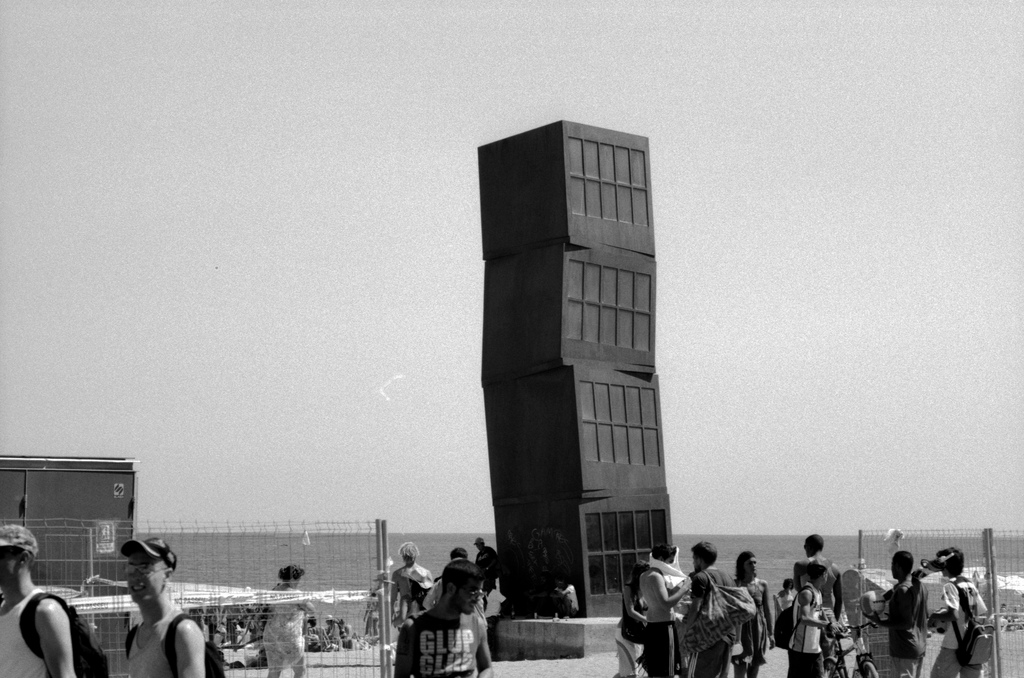 Strange tower in Barcelona