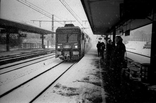Train and snow