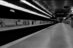 Alone in the RER in Paris