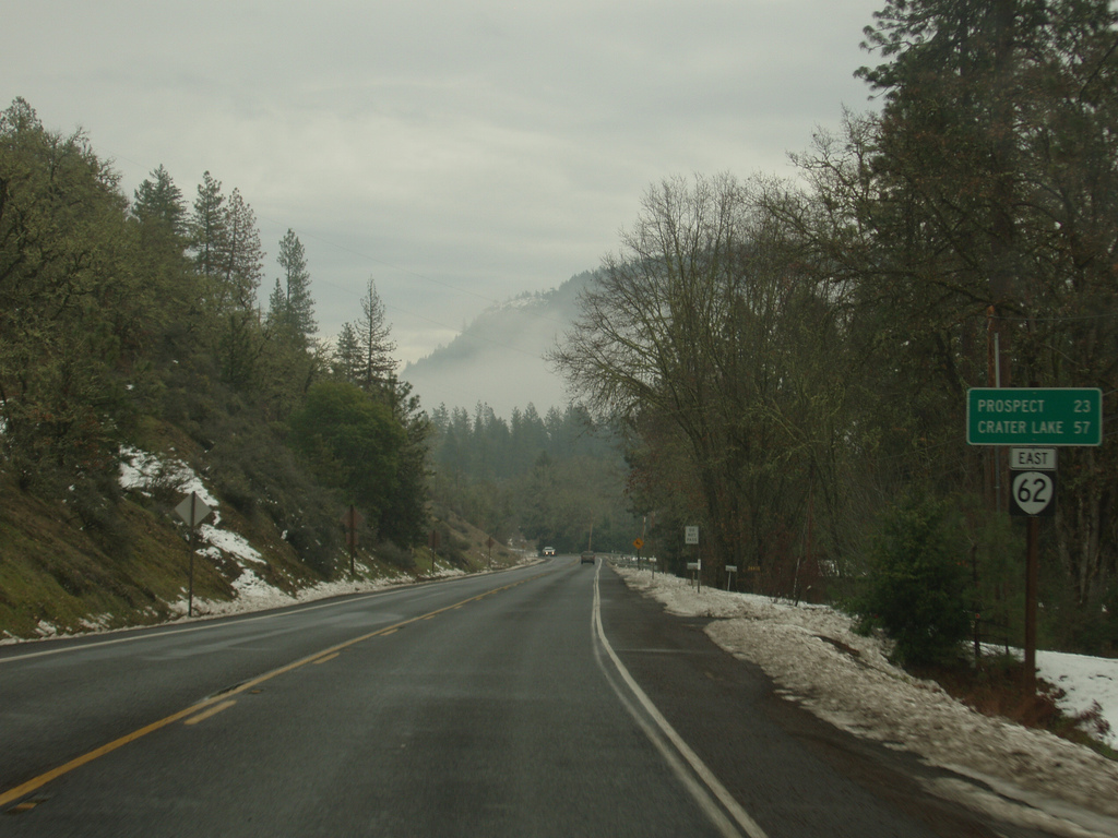 On the road to Crater Lake