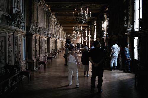 Un couloir dans le chateau de Fontainebleau