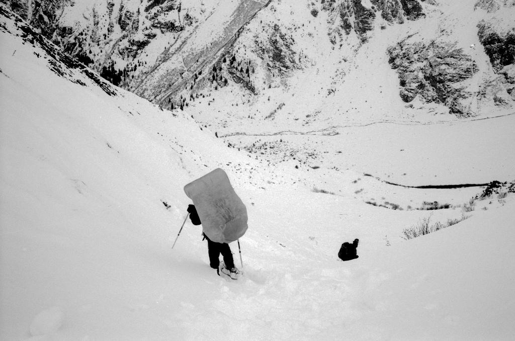 Descente dans la neige