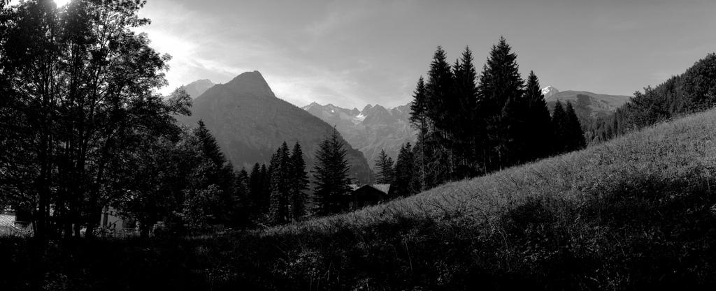 Massif du Mont Blanc depuis l'Italie