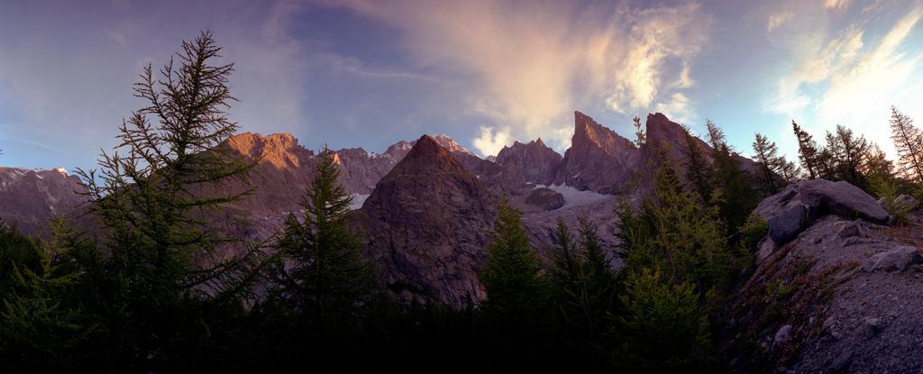 Lever du Soleil, sous le Mont Blanc